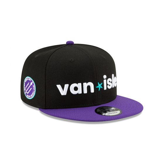 Pacific FC New Era Black 9FIFTY Snapback Hat