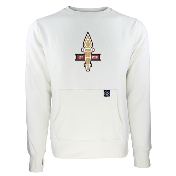 Women's Valour FC Torch Logo White Sweatshirt