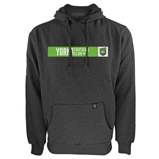 Men's York 9 FC Box Logo Charcoal Hoody