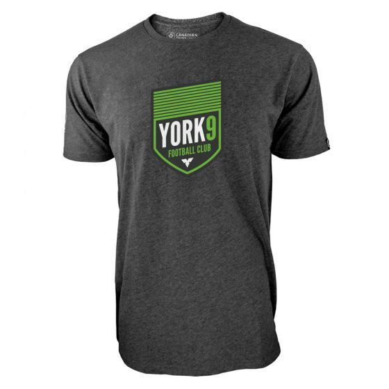 Men's York 9 FC Primary Logo Charcoal T-Shirt