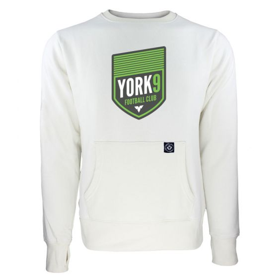 Women's York 9 FC Primary Logo White Sweatshirt