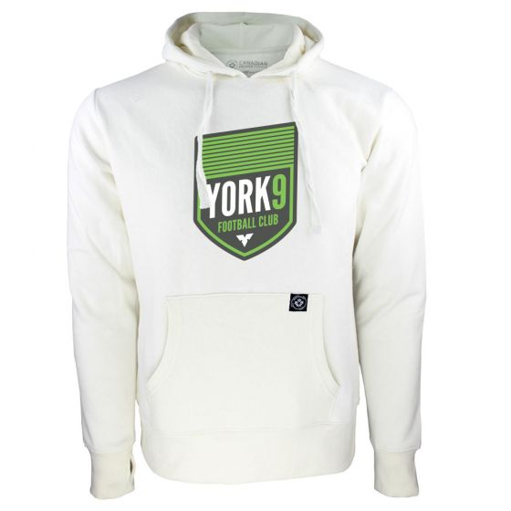 Women's York 9 FC Primary Logo White Hoody