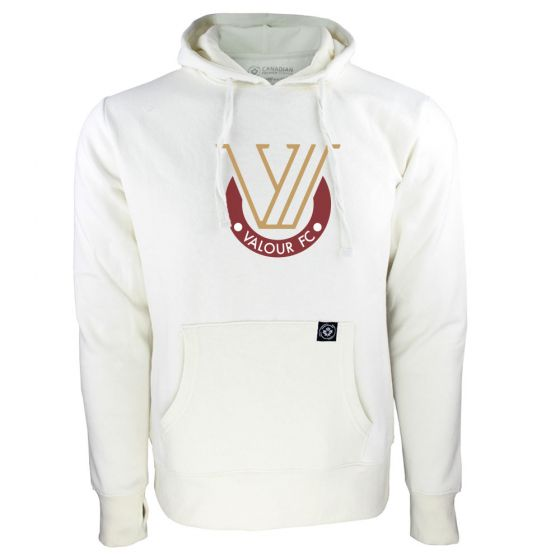 Women's Valour FC Secondary Logo White Hoody
