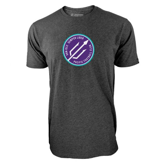 Men's Pacific FC Secondary Logo Charcoal T-Shirt