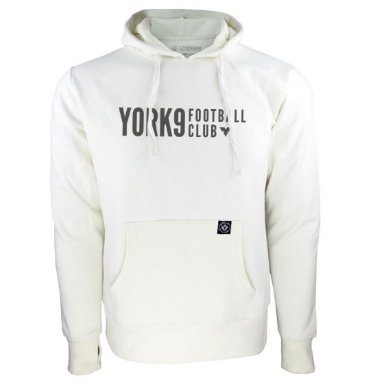 Women's York 9 FC Black Wordmark White Hoody