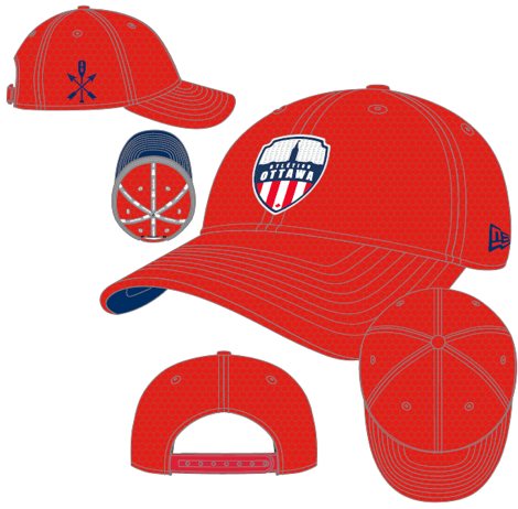Atlético Ottawa New Era Red 9FORTY Adjustable Snapback Hat