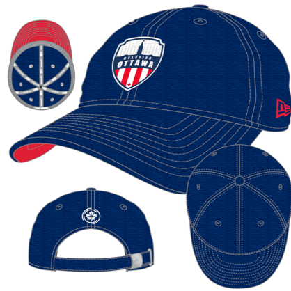 Atlético Ottawa New Era Blue 9TWENTY Adjustable Hat - Pre Order