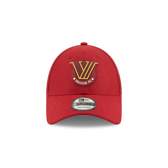 Valour FC New Era Red 9FORTY Adjustable Snapback Hat