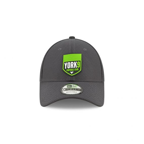 York 9 New Era Grey 9FORTY Adjustable Snapback Hat
