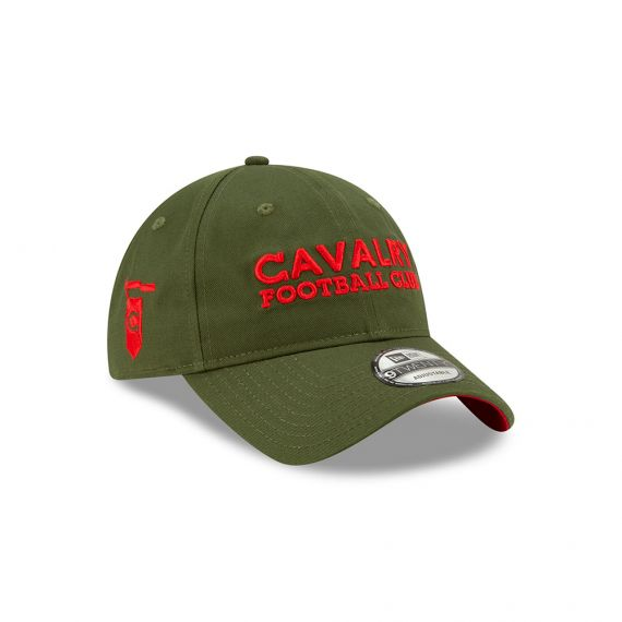 Cavalry FC Woodmark New Era Green 9TWENTY Adjustable Hat