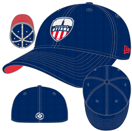 Atlético Ottawa New Era Blue 39THIRTY Flex Hat