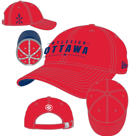Atlético Ottawa New Era Red 9TWENTY Adjustable Hat