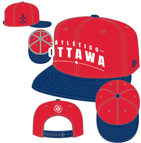 Atlético Ottawa New Era Red 9FIFTY Snapback Hat - Pre Order