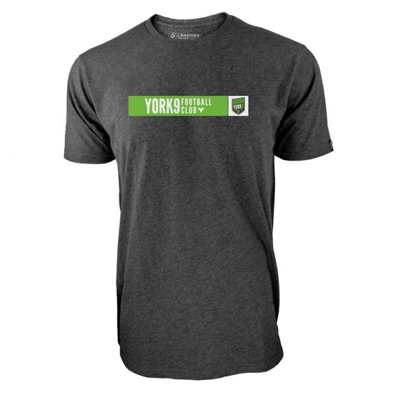 Men's York 9 FC Box Logo Charcoal T-Shirt