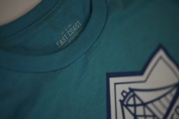 HFX Wanderers East Coast Lifestyle Primary Logo Aqua Blue Adult T-Shirt