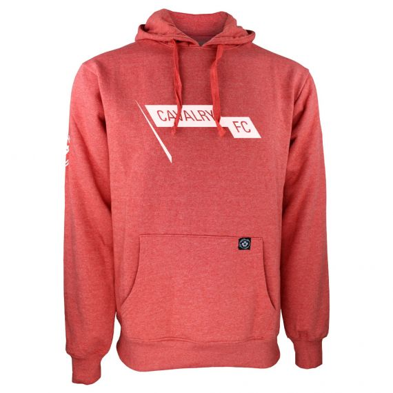 Men's Cavalry FC White Pennant Logo Red Hoody