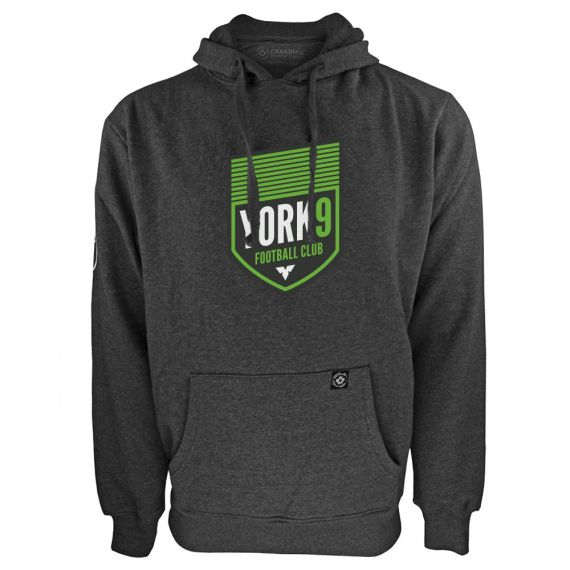 Men's York 9 FC Primary Logo Charcoal Hoody
