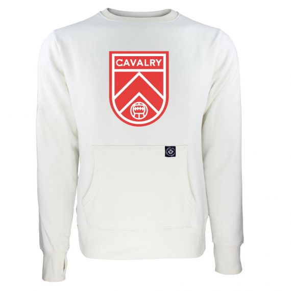 Women's Cavalry FC Primary Logo White Sweatshirt