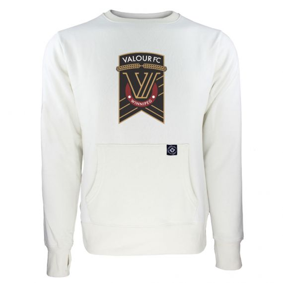 Women's Valour FC Primary Logo White Sweatshirt