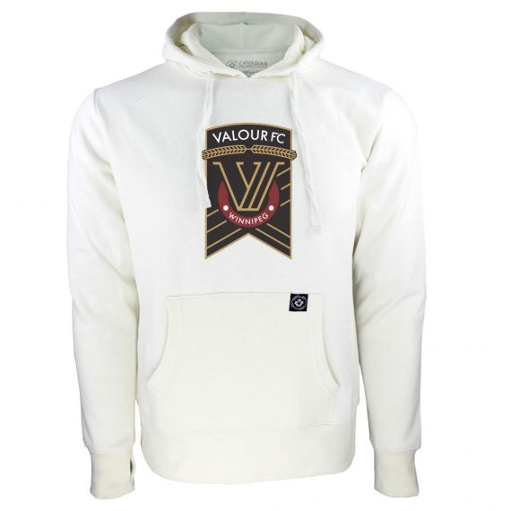 Women's Valour FC Primary Logo White Hoody
