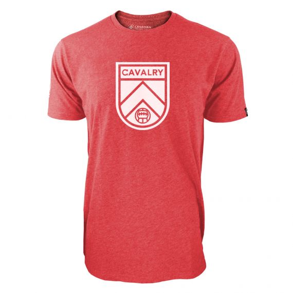 Men's Cavalry FC Primary Logo Red T-Shirt