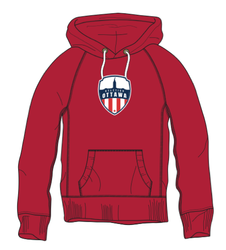 Atlético Ottawa Primary Logo Red Hoody