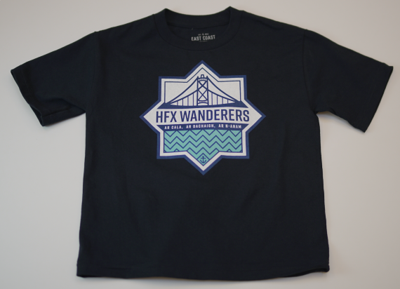 HFX Wanderers East Coast Lifestyle Primary Logo Dark Blue Youth T-Shirt