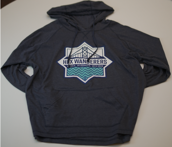 HFX Wanderers East Coast Lifestyle Primary Logo Light Blue Adult Hoody