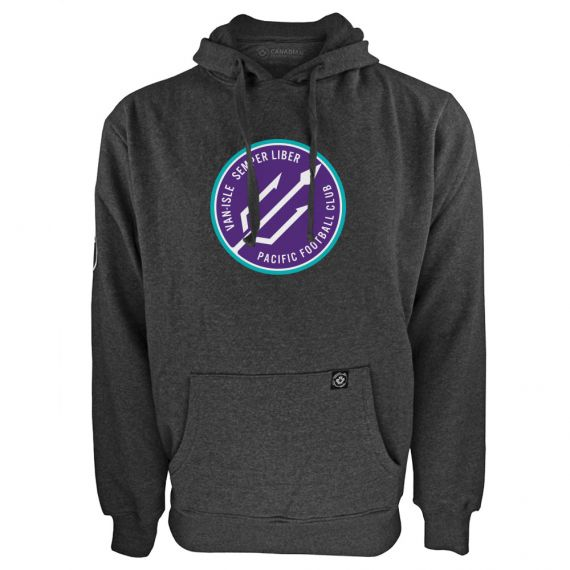 Men's Pacific FC Secondary Logo Charcoal Hoody