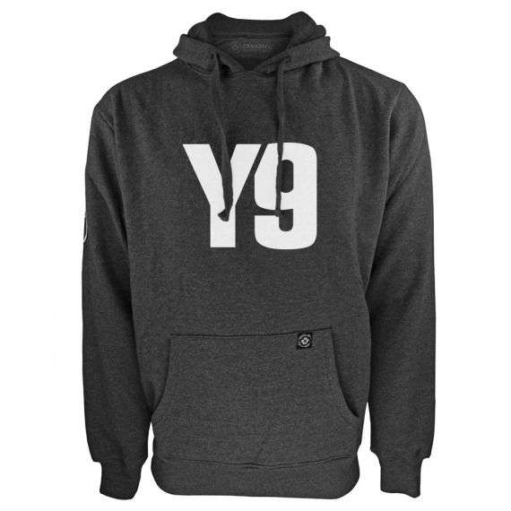 Men's York 9 FC Secondary Logo Charcoal Hoody