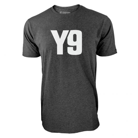 Men's York 9 FC Secondary Logo Charcoal T-Shirt