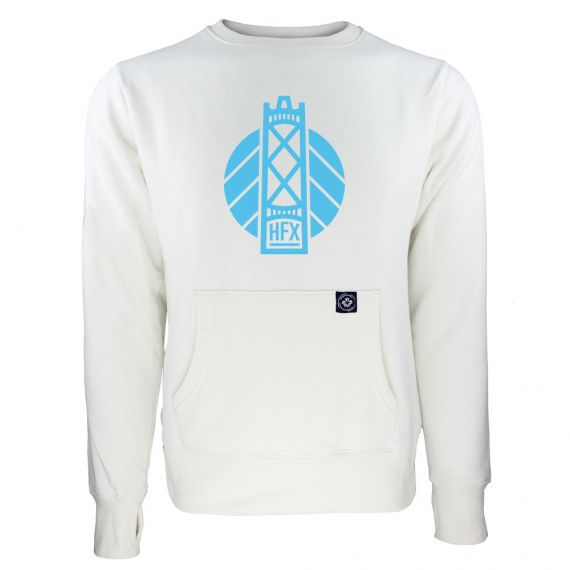 Women's HFX Wanderers Blue Secondary Logo White Sweatshirt