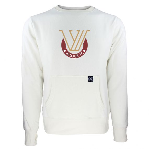Women's Valour FC Secondary Logo White Sweatshirt