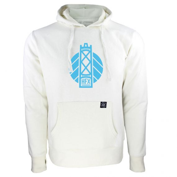 Women's HFX Wanderers Blue Secondary Logo White Hoody