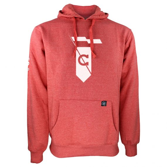 Men's Cavalry FC White Secondary Logo Red Hoody