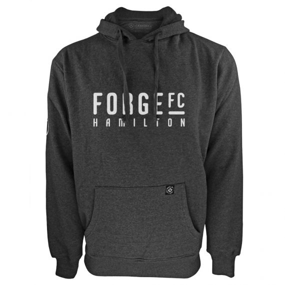 Men's Forge FC White Wordmark Charcoal Hoody