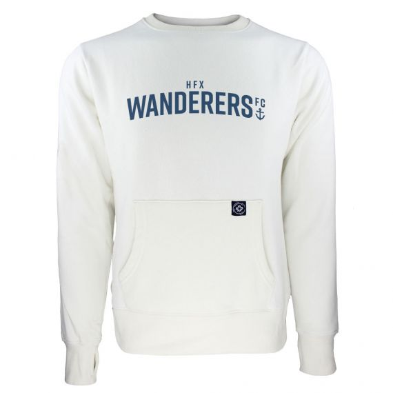 Women's HFX Wanderers Blue Wordmark White Sweatshirt