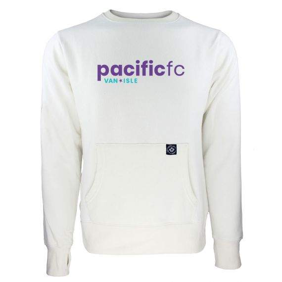 Women's Pacific FC Purple Wordmark White Sweatshirt
