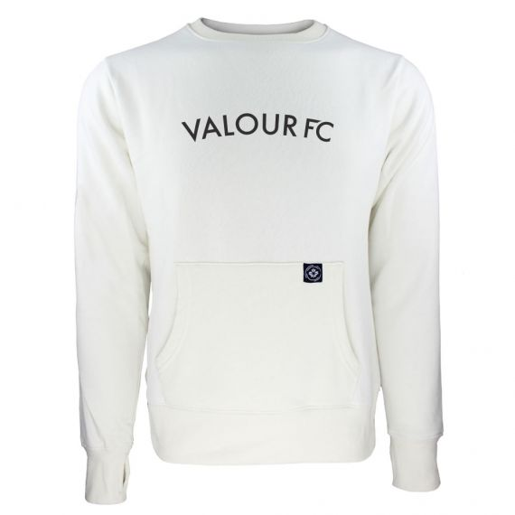 Women's Valour FC Black Wordmark White Sweatshirt