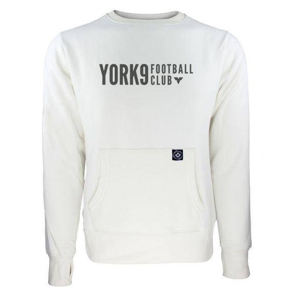 Women's York 9 FC Black Wordmark White Sweatshirt