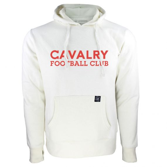 Women's Cavalry FC Red Wordmark White Hoody