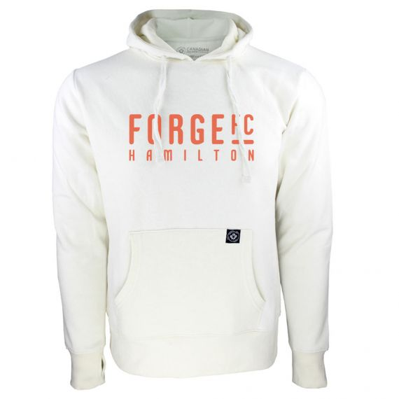 Women's Forge FC Orange Wordmark White Hoody