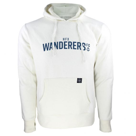 Women's HFX Wanderers Blue Wordmark White Hoody