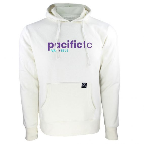 Women's Pacific FC Purple Wordmark White Hoody