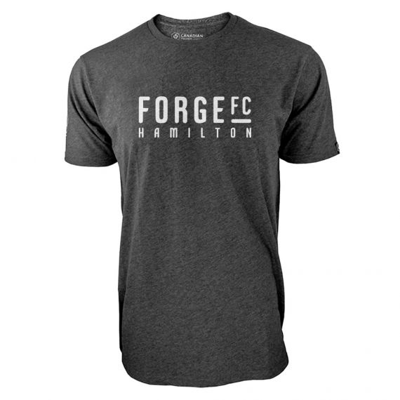 Men's Forge FC White Wordmark Charcoal T-Shirt
