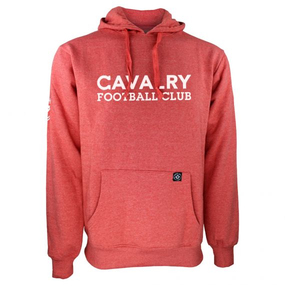 Men's Cavalry FC White Wordmark Red Hoody