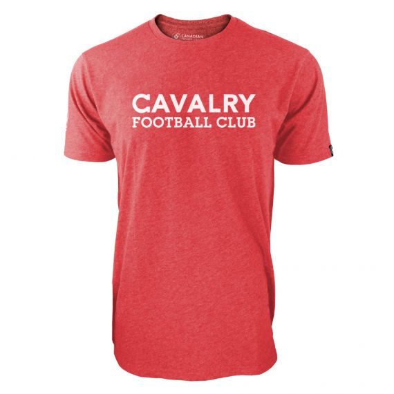 Men's Cavalry FC White Wordmark Red T-Shirt