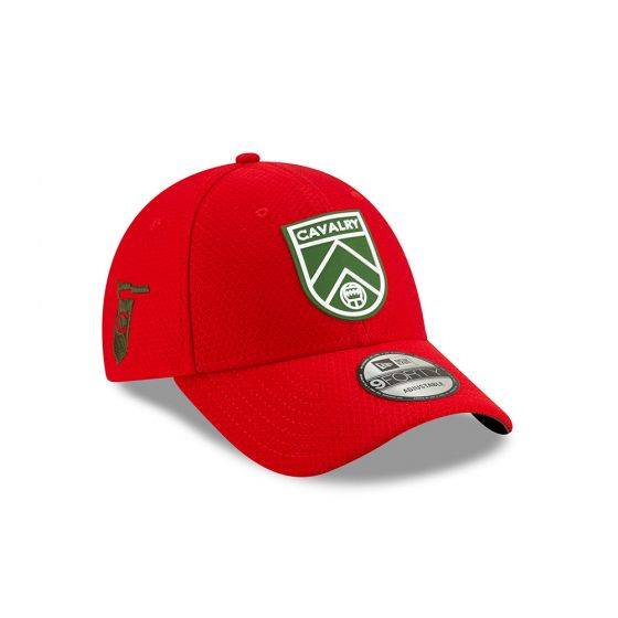 Cavalry FC New Era Red 9FORTY Adjustable Snapback Hat