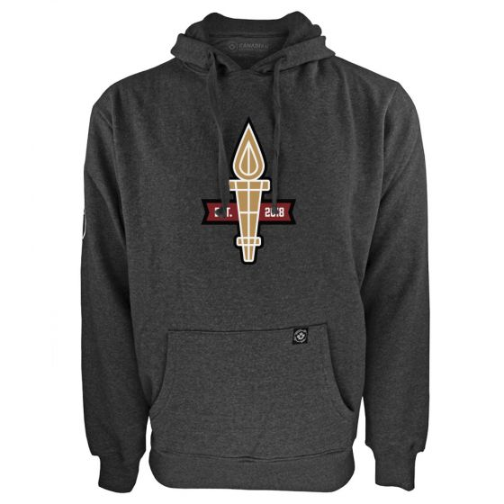 Men's Valour FC Torch Logo Charcoal Hoody
