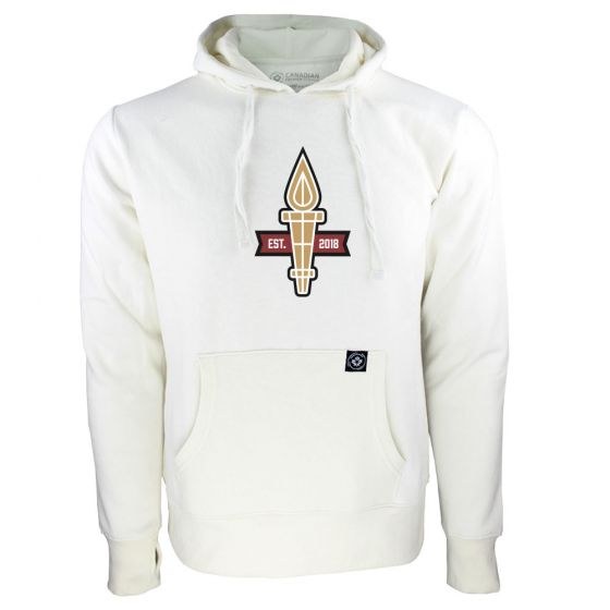 Women's Valour FC Torch Logo White Hoody